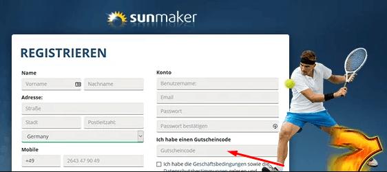 Sunmaker 5 € Gutscheincode