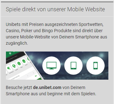 unibet mobile version